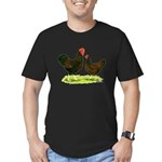 Barnevelder Chickens Men's Fitted T-Shirt (dark)