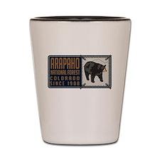 Arapaho Black Bear Badge Shot Glass