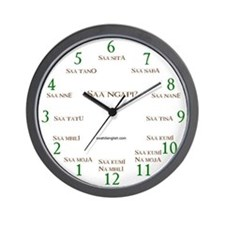 "10"" Swahili Wall Clock"