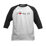 I love (heart) the DJ and headphones design Tee