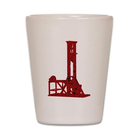 Red Guillotine Shot Glass