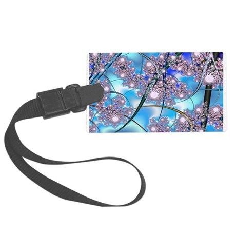 Spring Blossoms Fractal Large Luggage Tag