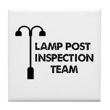 Lamp Post Inspection Team Tile Coaster