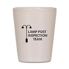 Lamp Post Inspection Team Shot Glass