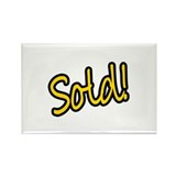 Sold! Rectangle Magnet (100 pack)