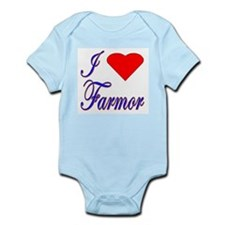 I Love Farmor Infant Bodysuit