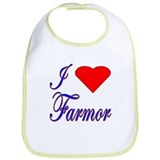 I Love Farmor Bib