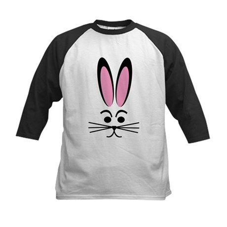 Bunny Face Kids Baseball Jersey