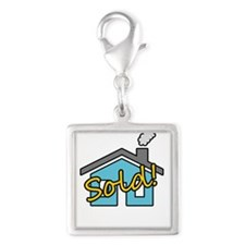 House Sold! Silver Square Charm
