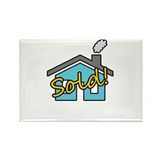 House Sold! Rectangle Magnet (100 pack)