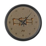 joy/sand Large Wall Clock