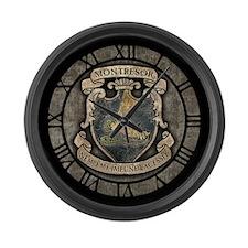 Montresor Coat Of Arms Large Wall Clock