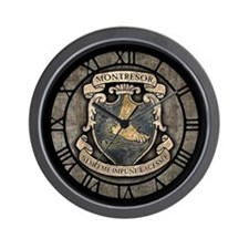 Montresor Coat Of Arms Wall Clock