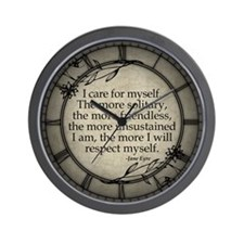 Jane Eyre Care For Myself Wall Clock