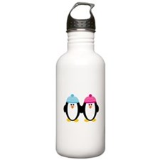 A Couple of Cute Penguins Water Bottle