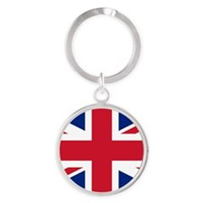 Great Britain Union Flag Round Keychain