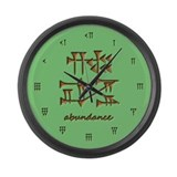 abundance/green Large Wall Clock