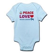 Peace Love Belgian Laekenois Infant Bodysuit