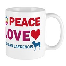 Peace Love Belgian Laekenois Mug