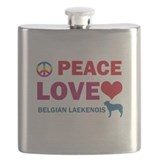 Peace Love Belgian Laekenois Flask