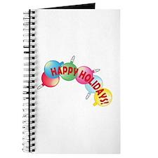 Happy Holidays Bulbs B Journal