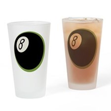Retro 8-Ball Drinking Glass