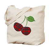 plaid-cherries.png Tote Bag