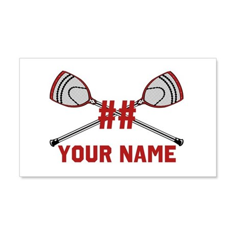 Personalized Crossed Goalie Lacrosse Sticks Red 20
