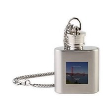 Golden Gate Bridge Flask Necklace