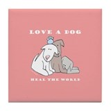 Cute Adopt a pet adoption pets animal rescue Tile Coaster