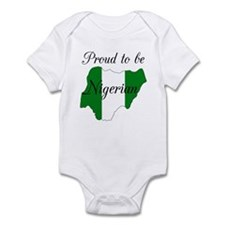 Proud to be Nigerian (map #2) Infant Bodysuit