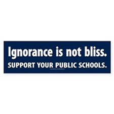ignorance is not bliss Bumper Bumper Sticker