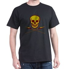 skull with cross spears t