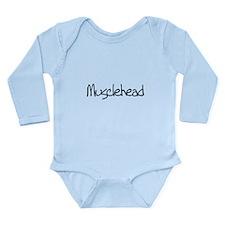 musclehead black.png Long Sleeve Infant Bodysuit