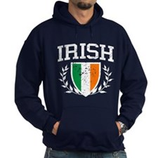 IRISH Crest - Distressed Design Hoodie