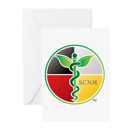 SCNM Medicine Wheel Logo Greeting Cards (Pk of 10)