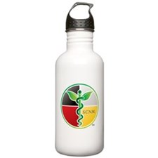 SCNM Medicine Wheel Logo Sports Water Bottle