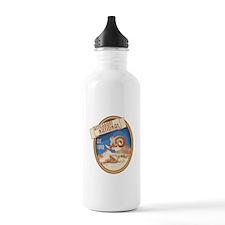 Bitterroot Blue Bighorn Badge Sports Water Bottle