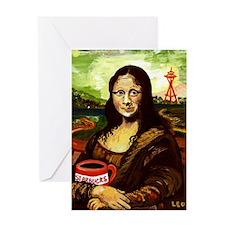 Starbucks Mona Lisa Greeting Card