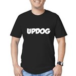 (whats) updog Men's Fitted T-Shirt (dark)