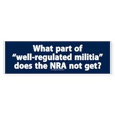Well-regulated militia Bumper Sticker (50 pk)