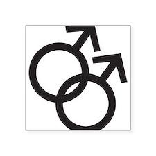"""Gay Symbol - Male Square Sticker 3"""" x 3"""""""