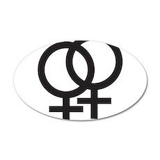 Gay Symbol - Female 20x12 Oval Wall Decal