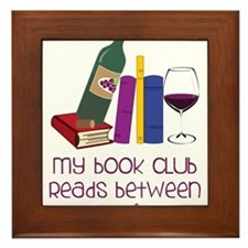 My Book Club Framed Tile