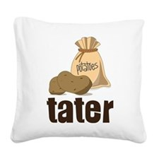 Tater Square Canvas Pillow
