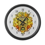 """LionOfZion-Crowned, 17"""" Plastic Ethio Clock"""