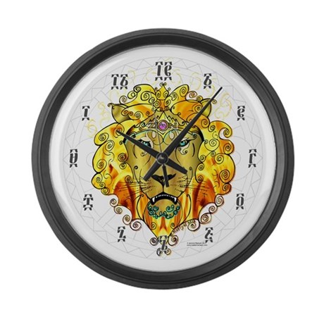 ZION Clock with Ethiopic Numbers - 17 in plastic!