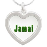 Jamal Grass Silver Heart Necklace
