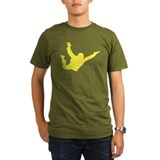 Freefall Silhouette 2 (Yellow) Dark Fitted T-Shirt