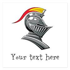 Customizable Knights Helmet 5.25 x 5.25 Flat Cards